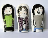Kurt and Krist and David finger puppets