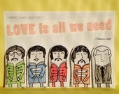 All we need is love -- magnetic finger puppets