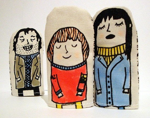 Jack and Wendy and Danny magnetic finger puppets
