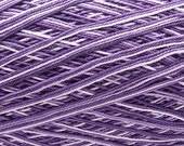 Free ship Variegated purple size 10 crochet cotton thread yarn knitting Clea - 1094 yds - richipy