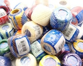 Lot 20 balls solid & variegated size 5 perle/pearl cotton threads for needlepoint cross stitch hardanger hand embroidery crochet - richipy