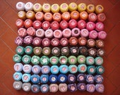 Lot 100 Balls pearl/perle size 8 cotton threads cross stitch hardanger hand embroidery crochet - richipy