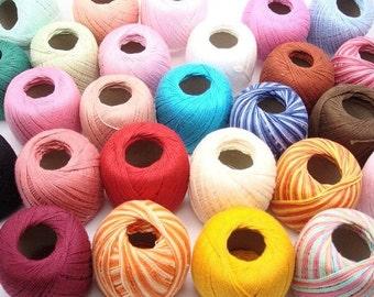 Pick colors - Lot of 10 Clea 125 balls size 10 crochet cotton threads yarn knitting - richipy