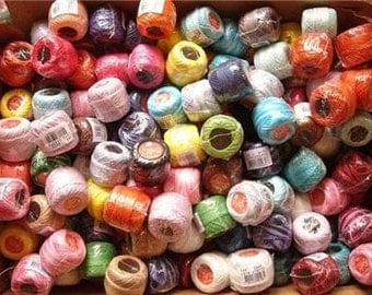 Free Ship Lot 30 balls size 8 perle pearl cotton threads hardanger needlepoint cross stitch hand embroidery and crochet - richipy