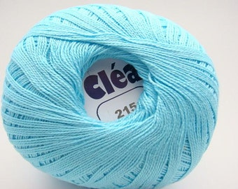 Clea Light Turquoise size 10 crochet cotton thread yarn new  - free ship - richipy