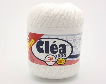 Free Ship Clea White size 10 Crochet Cotton Thread Yarn Knitting - richipy