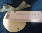 Sand Dollar Beach Wedding Favor Place Card Gift / Escort Card