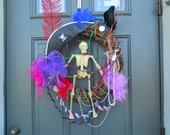 Tampa Florida Gasparilla Pirate Door Wall Wreath Halloween Scary