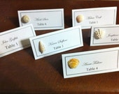 Sea Shell Beach Wedding Favor /Beach Summer Party Place / Escort Card Table Setting