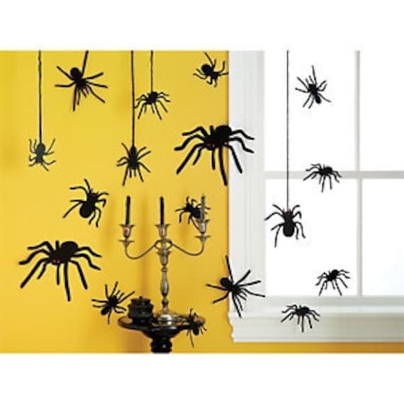 Martha Stewart Crafts Silhouttes Spiders AND Bats Halloween Decorations with gem eyes