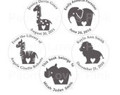 "Custom Stamp Stuffed Animals 1 5/8"" Circle Self-inking"