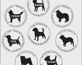 "Custom Self-inking Stamp in Dogs - 1 5/8"" Circle"