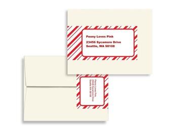 Printable Editable Envelope Wrap PDF in Peppermint