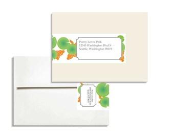 Printable Editable Envelope Wrap PDF File for A2 envelopes in Goldfish