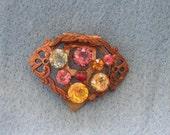 Unique Vintage Brooch pin clip for clothes, shoes, etc