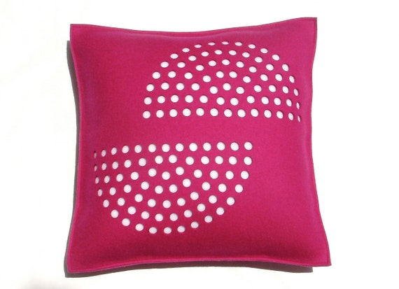 Fuschia with White Half Circles - Sale