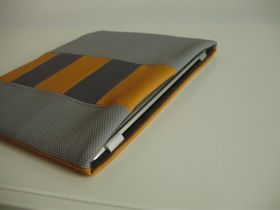 iPad/Tablet Sleeve/Case in Gold and Gray