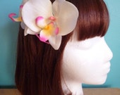 Pin Up Double Orchid Hair Comb