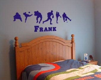 Personalized Baseball Vinyl Wall Decal