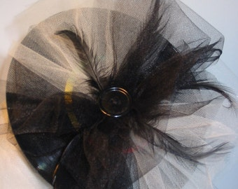 Fascinator UpCycled 45 record