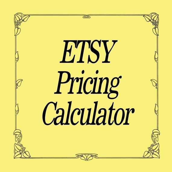 ETSY Product Pricing Calculator - For RETAIL AND WHOLESALE PRICING Etsy Business Tool