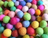 SALE 60 Multicolors Felt balls (15mm)