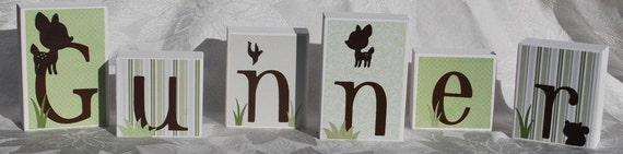 Personalized Baby Name Block Letters . Gunner