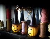 Vintage Halloween -  Jackolantern candles -  Halloween Decor - Vintage Candle - Free Shipping