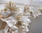 8 VINTAGE Book pages Repurposed Party Garland Upcycled books