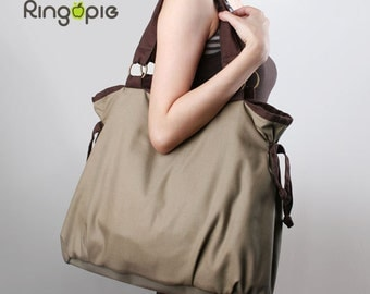 Sale 20%OFF-Ready To Ship-Ringopie Everyday  Canvas Tote(khaki)/handbag/laptop bag/diaper bag/school bag/shoulder bag/market bag/For Her-049