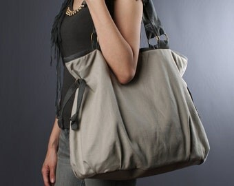 Sale20%OFF-Ready To Ship-Ringopie Everyday Canvas Tote (light gray)/laptop bag/shoulder bag/handbag/school bag/casual/tote/purse/For Her-050