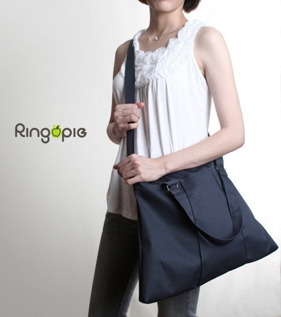 Sale 20%OFF-Ready To Ship-Grey Pleated Bag with Adjustable Strap Tote/women/purse/shoulder bag/school bag/laptop bag/handbag/For Her -013