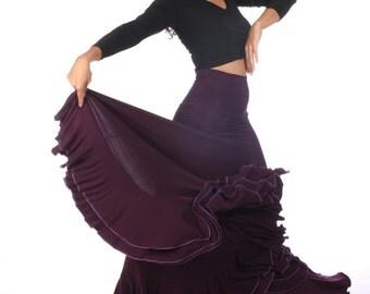 TRIANA Skirt, Flamencita design, Professional spanish Flamenco classic skirt . Tribal fusion.
