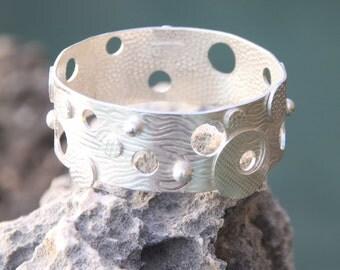 Argentium Sterling Silver Bangle Bracelet