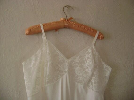 Pure white vintage slip - size 40