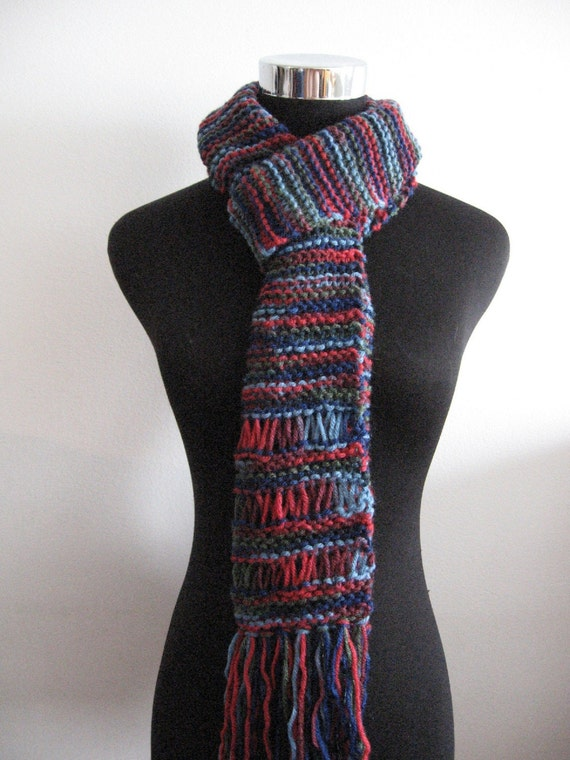 Blues, Reds and Greens Scarf.