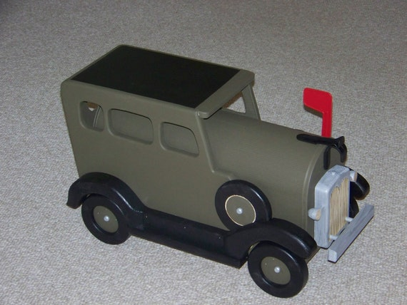 Model A Green and Black Mailbox