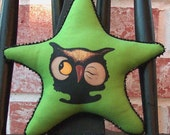 Owl Bowl Filler - Hand Painted Ornie - Tuck - Star