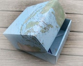 Whirled World Origami Map Two Piece Box Large