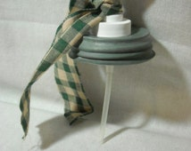 ZINC Mason Jar LID Soap Dispenser PUMP-country prim  make a soap dispenser with your own canning jar