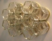 SALE 20% FIY HEX 10:  FIll It Yourself Magnetic Spice Rack (set of 10 empty jars to fill with your own spices)