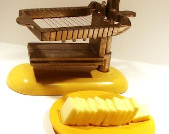 Enameled Butter Slicer - Primitive Farmhouse - SALE