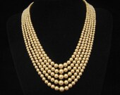 Reserved for V do not Buy Vintage Wedding Pearl Necklace 5 Strand Rhinestone Clasp 1950s
