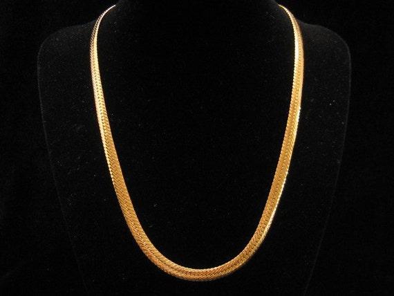Vintage Napier Gold Tone Snake Chain Necklace 1950s