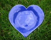 Sky Blue Ceramic Heart Dish.