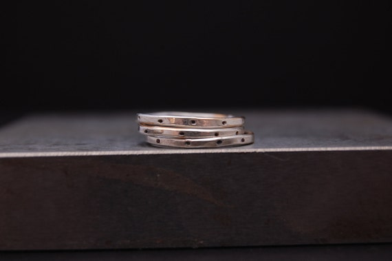 Ambrielle -  Halo -  Roundelle Stacking Ring in Sterling Silver