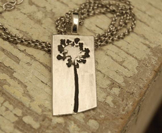 Blossom - Lions Tooth - Recycled silver necklace