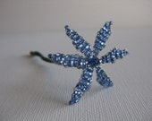 Hand Beaded Flower Something Blue Small Bouquet Hair Versatile Wired