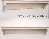 Shabby Chic Classic Style Antique White Wall Shelf 36inch you choose color