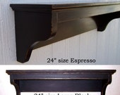 Wall Shelf  Shabby Chic Classic Style 24inch in your choice of color